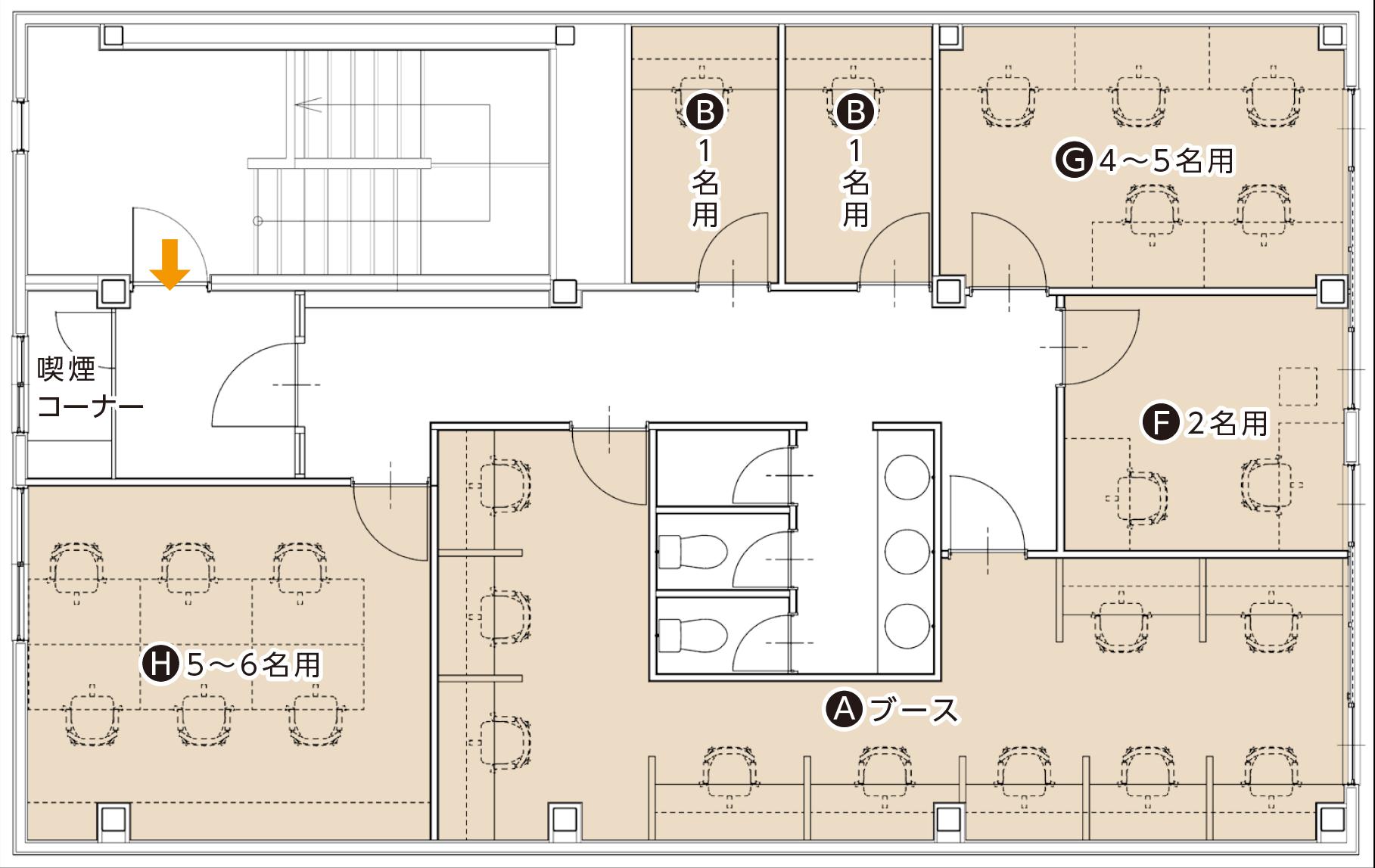 レンタルオフィス3Fフロアマップ
